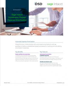 Sage Intacct Accelerator: Prepaid Expense Amortization