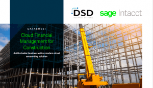 Sage Intacct Cloud Financial Management for Construction​