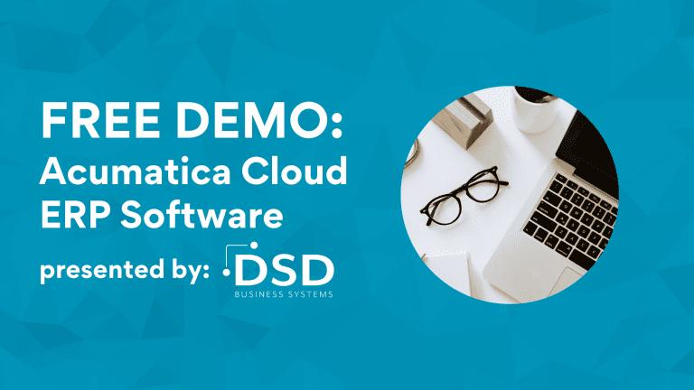 Acumatica Cloud ERP Software Demo PopUp