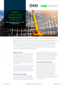 Financial Management for Construction