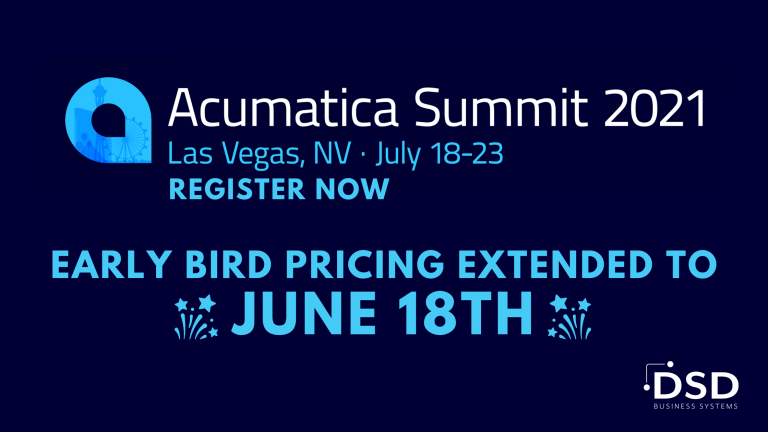 Acumatica Summit 2021 Extended Pricing