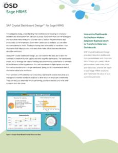 Sage HRMS SAP Crystal Dashboard