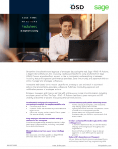Sage HRMS HR Actions Fact Sheet
