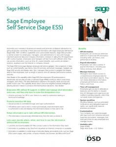 Sage HRMS ESS
