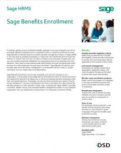 Sage HRMS Benefits Enrollment