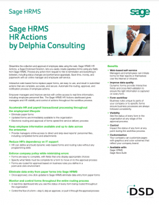 Sage HRMS HR Actions