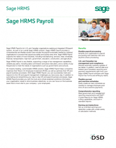 Sage HRMS Payroll