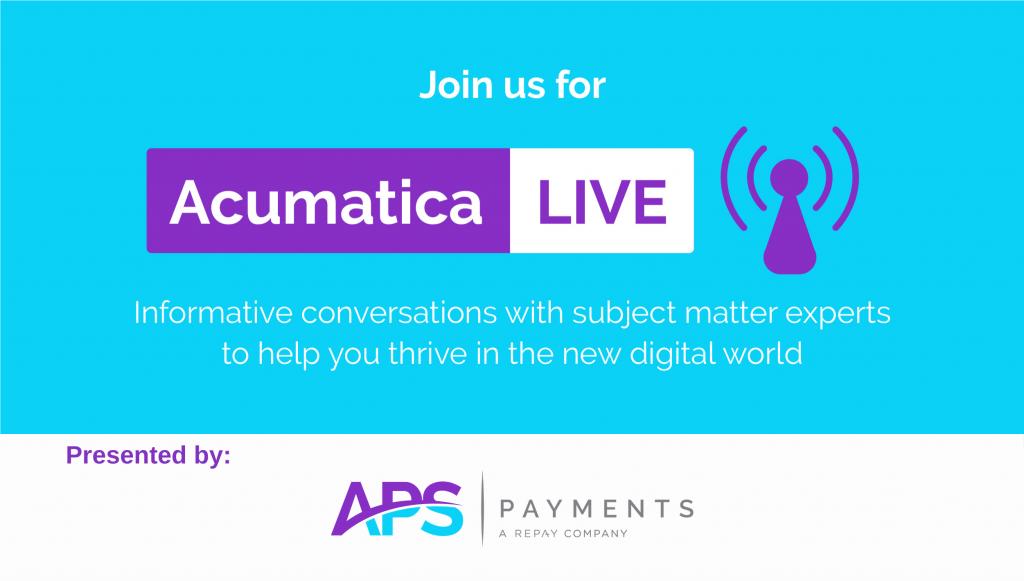 APS Payments Acumatica Live