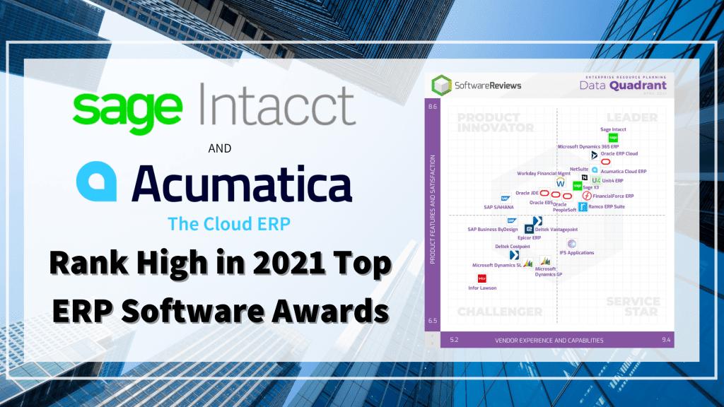 Sage Intacct and Acumatica Awards
