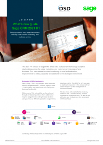 Sage CRM 2021 What's New Guide