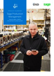 Sage Production Management Product Summary