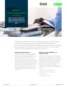 Sage Budgeting and Planning Datasheet
