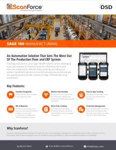 ScanForce Sage 100 Manufacturing