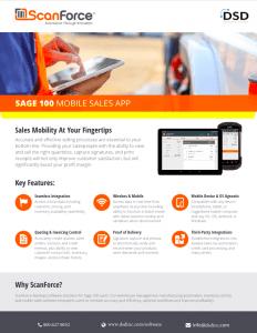 ScanForce Sage 100 Mobile Sales App