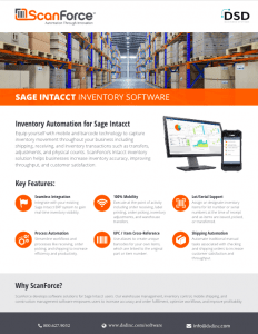 ScanForce Sage Intacct Inventory Software