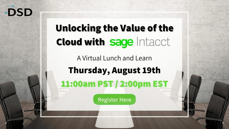 Sage Intacct Lunch and Learn