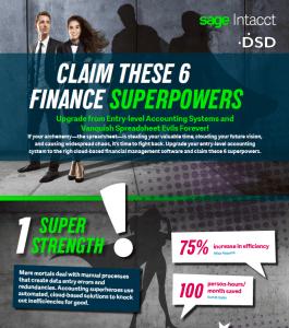 Sage Intacct Superhero Infographic