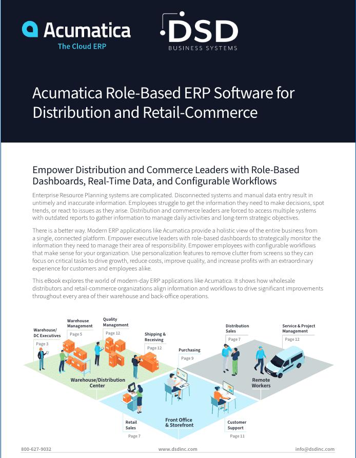 Acumatica Distribution Commerce Roles