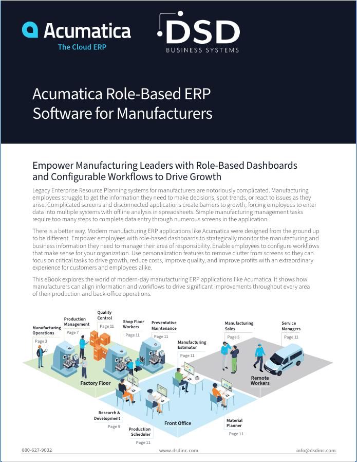 Acumatica Manufacturing Roles