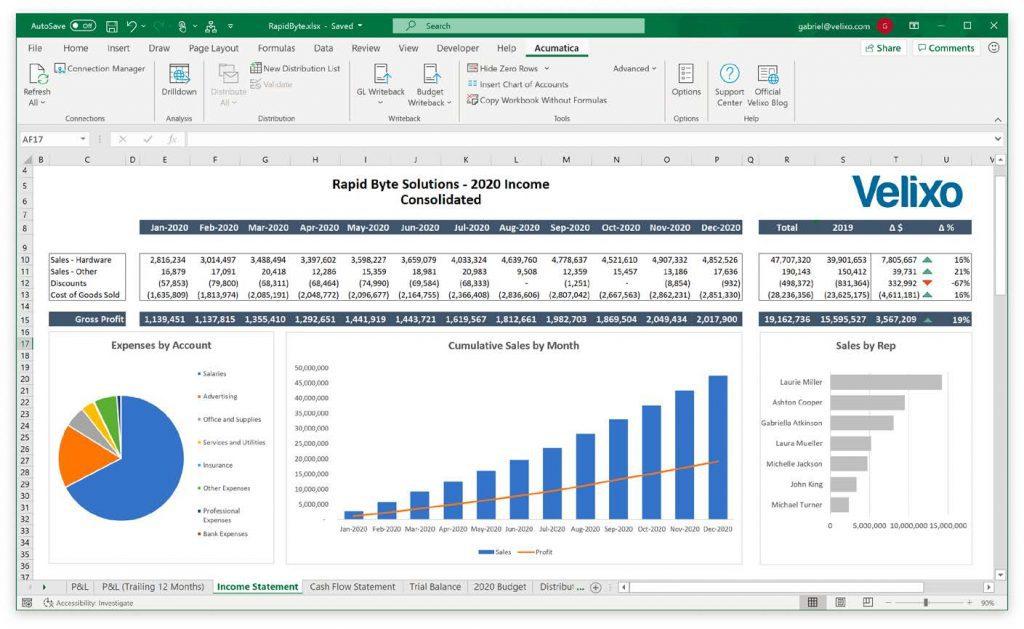 Velixo Excel