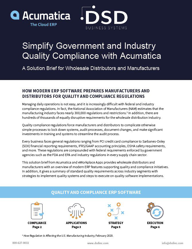 Quality Management ERP Software for Distributors