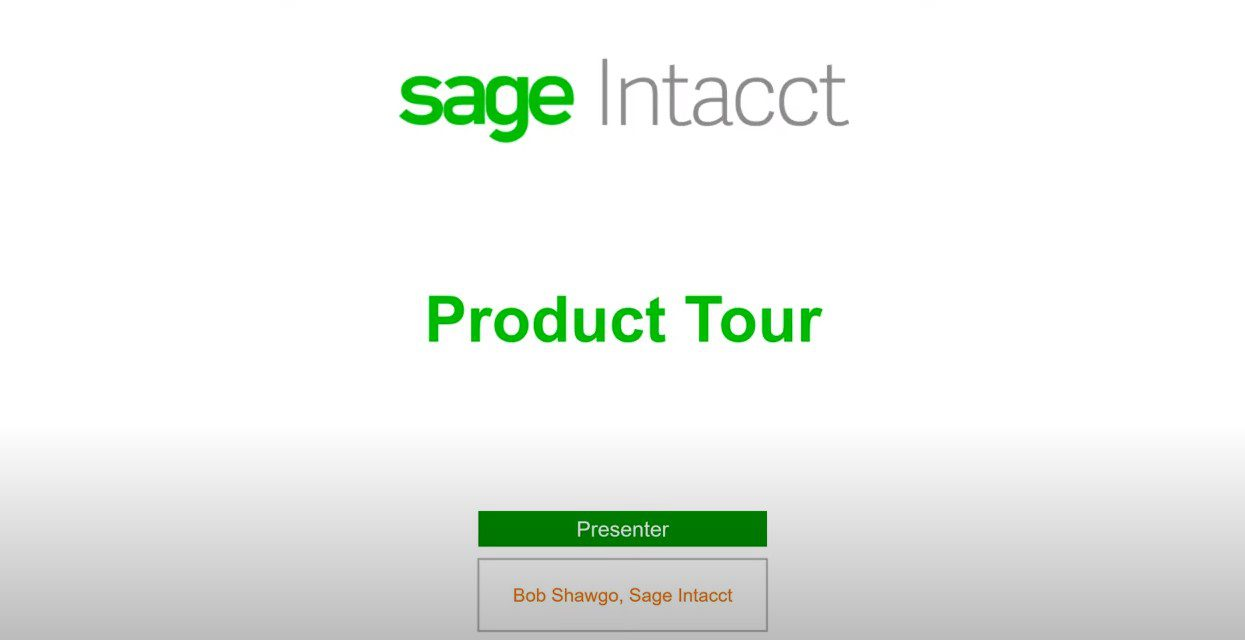 Sage Intacct Product Tour