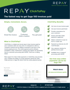 REPAY Sage 100 Click to Pay