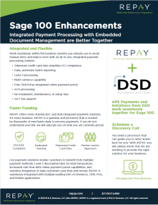 REPAY Sage 100 Enhancements