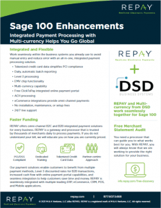 REPAY Sage 100 Multi-Currency